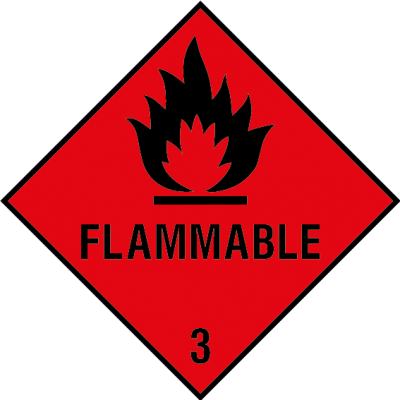 Flammable 3 sign