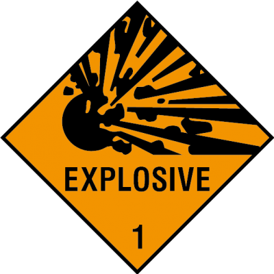 Explosive 1 sign