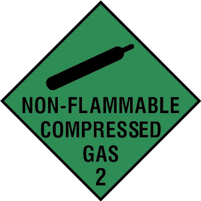 Non-flammable compressed gas 2 sign