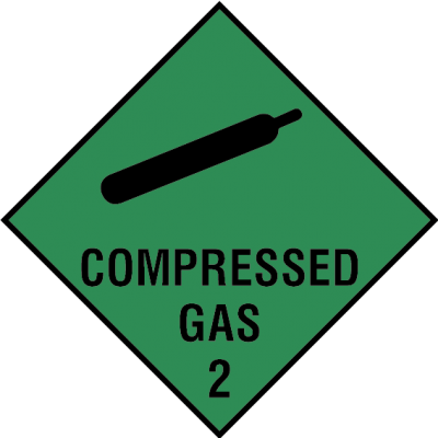 Compressed gas 2 sign