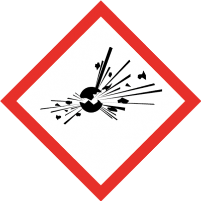 Explosive sign