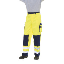 Keep safe EN471 high visibility two tone polycotton combat safety trouser