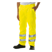 Keep safe EN471 high visibility polycotton cargo trousers tall