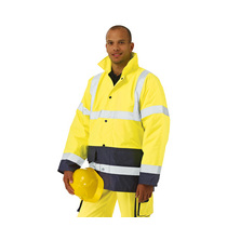 Keep safe EN 471 two tone high visibility safety jacket