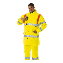 Keep safe EN471 high visibility safety jacket with red braces