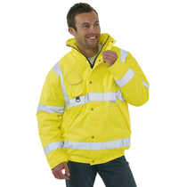 Keep safe high visibility EN 471 bomber jacket