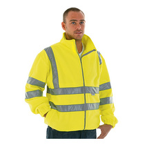 Keep safe high visibility EN 471 fleece safety jacket