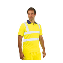 Keep safe high visibility short sleeve polo shirt