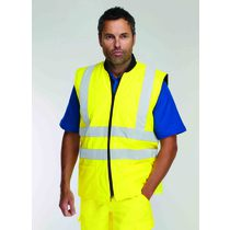 Keep safe EN 471 PU reversible high visibility safety bodywarmer