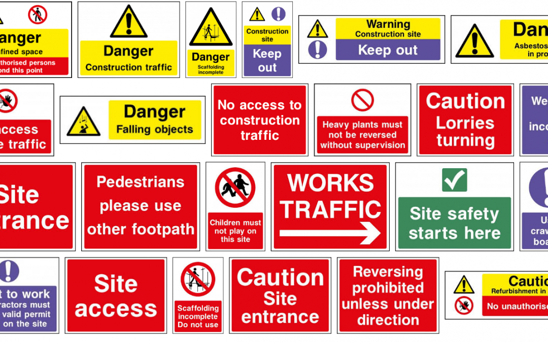 Hazard Warning Signs For Construction Sites Health And Safety Signs