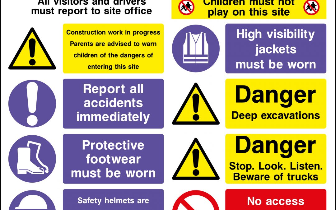 Five Vital Construction Safety Signs