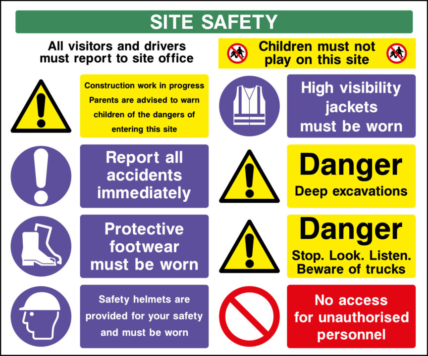 Construction Site Safety Sign Stickers Amp Plastic Ebay