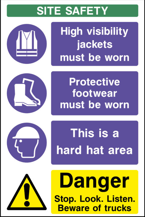 Construction site safety signs pdf