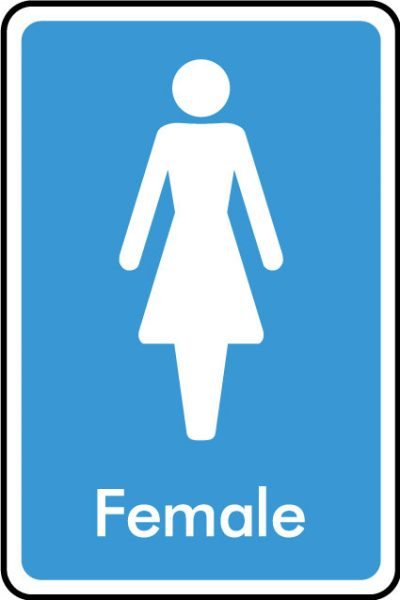 Female WC sticker