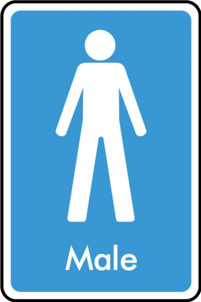 Male WC sticker