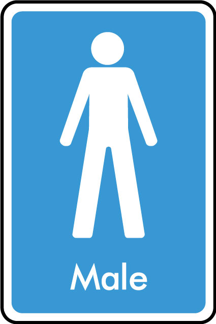 Male Wc Sticker Health And Safety Signs