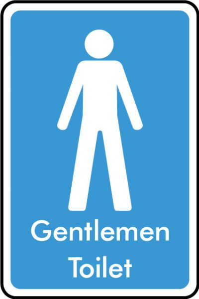 Gentlamen WC sticker