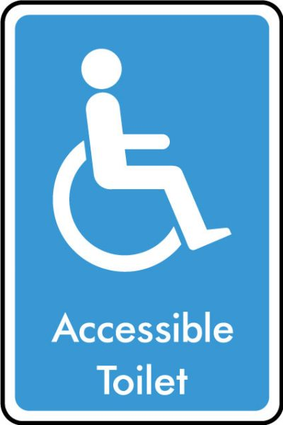 Accessible WC sticker