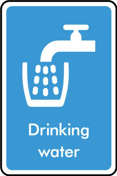 Drinking water sticker