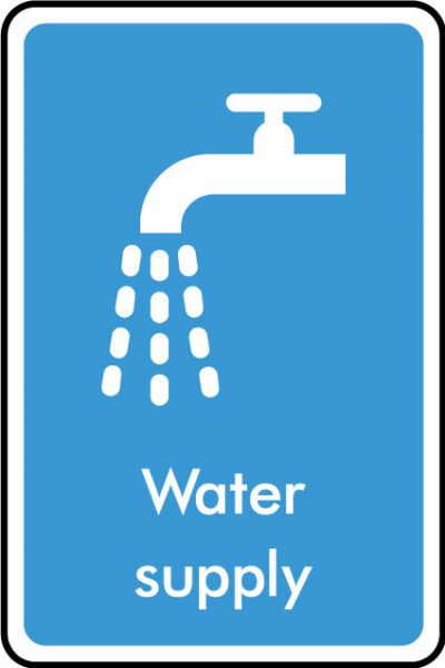 Water supply sticker