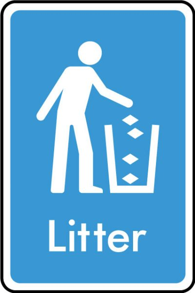 Litter sticker