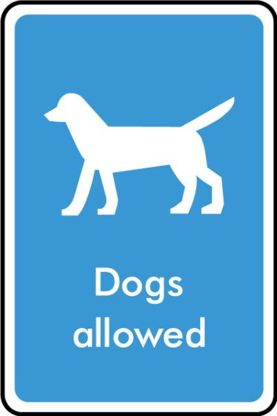 Dogs allowed sticker
