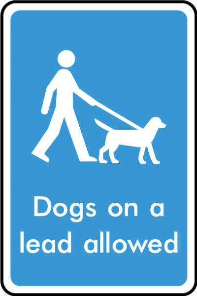 Dogs on lead allowed sticker