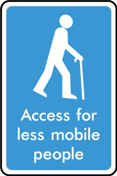 Access for less mobile people sticker