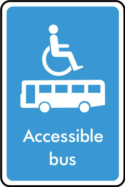 Accessible bus sticker
