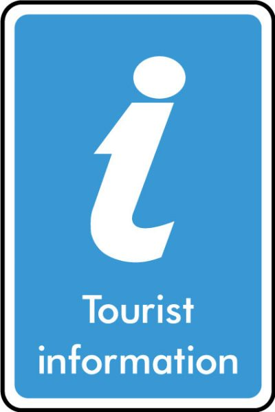 Tourist information sticker
