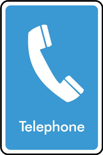 Telephone Sticker Health And Safety Signs