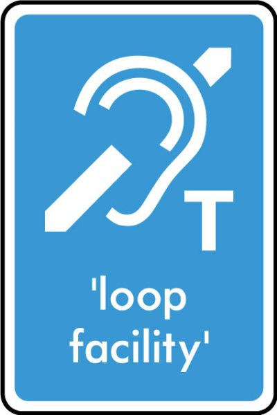 Induction loop facility sticker