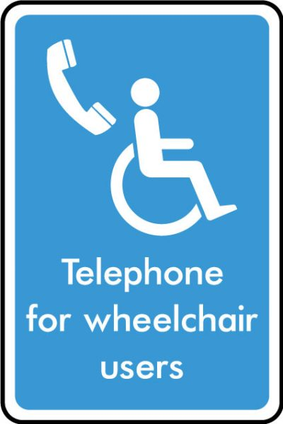 Telephone for wheelchair users sticker