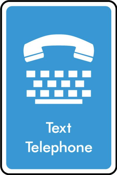 Text phone sticker