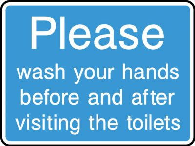 Wash hands sticker