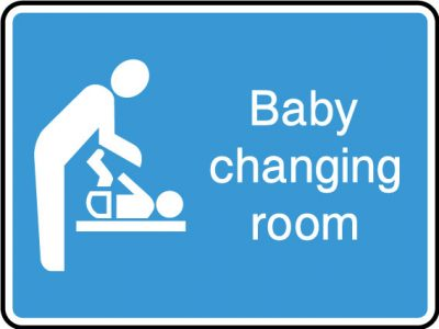 Baby changing room sticker