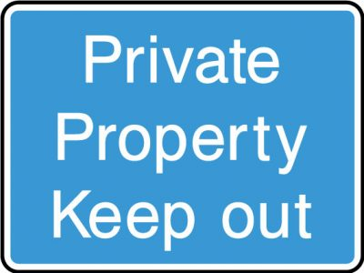 Private proprty sticker