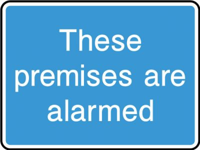 Alarmed premises sticker