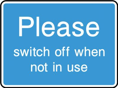 Switch off sticker