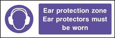 Ear protection sticker