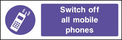 Switch off mobile phones sticker