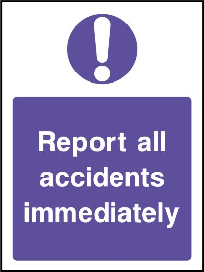 Report accidents sticker