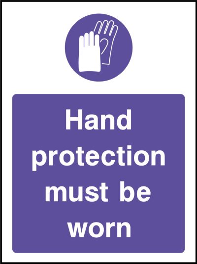 Hand protection sticker