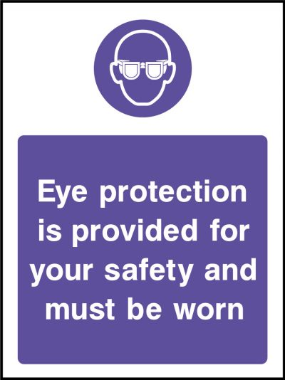 Eye Protection Sticker