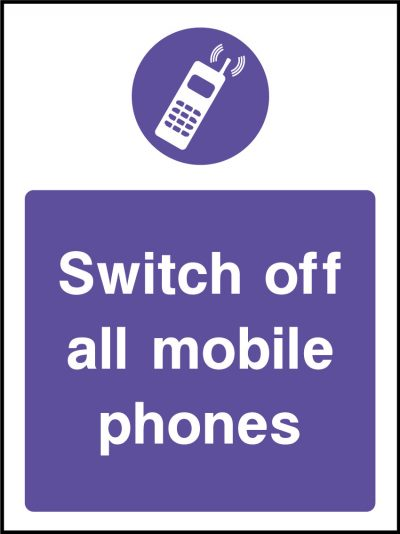 Switch off mobiles sticker
