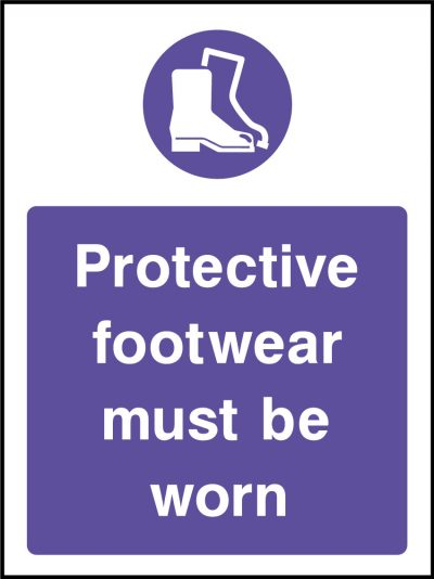 Protective footwear sticker