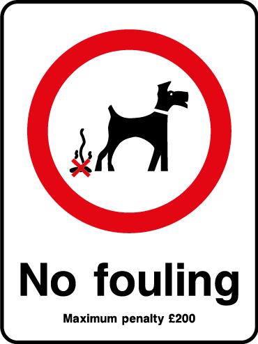No fouling sign
