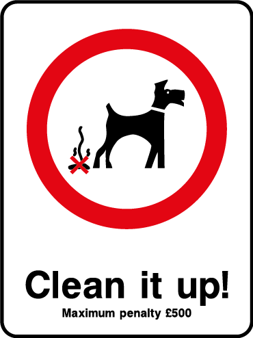 Clean it up! dogs fouling sign