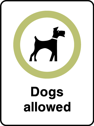 Dog allowed sign