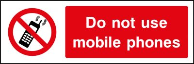 Mobile Phone Use Sticker